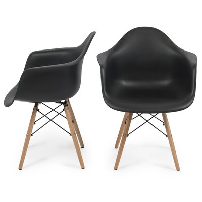 Caroyln Arm Chair Finish: Black