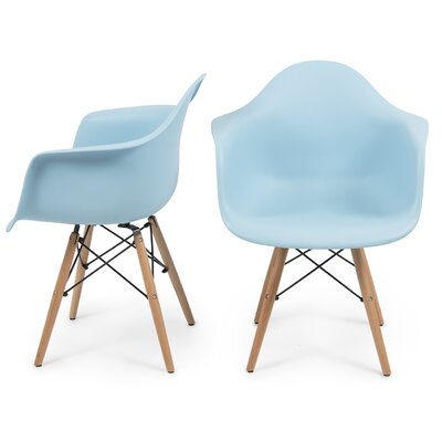 Caroyln Arm Chair Finish: Blue