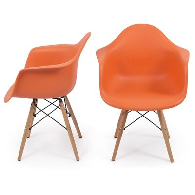 Caroyln Arm Chair Finish: Orange
