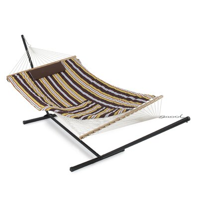 Cotton Hammock with Stand Color: Desert Stripe