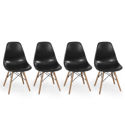 Dowel Side Chair Upholstery: Black