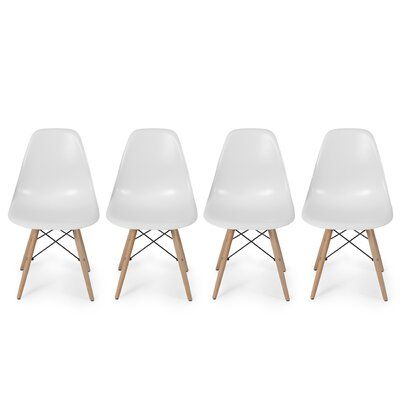 Dowel Side Chair Upholstery: White