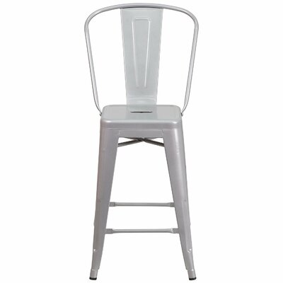 30 Bar Stools Color: Silver