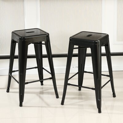 Camas 26 Bar Stool Finish: Black
