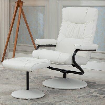 Recliner Upholstery: White
