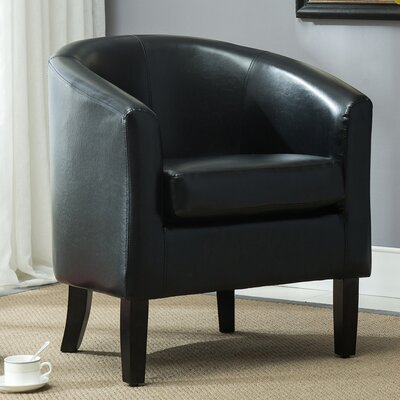 Barrel Chair Upholstery: Black