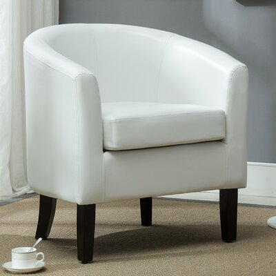 Barrel Chair Upholstery: White