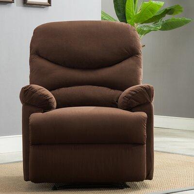 Microfiber Recliner Upholstery: Brown