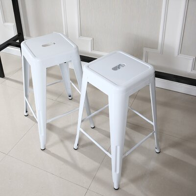 Camas 26 Bar Stool Finish: White