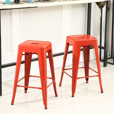 Camas 26 Bar Stool Finish: Red