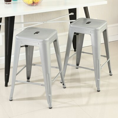 Camas 26 Bar Stool Finish: Silver
