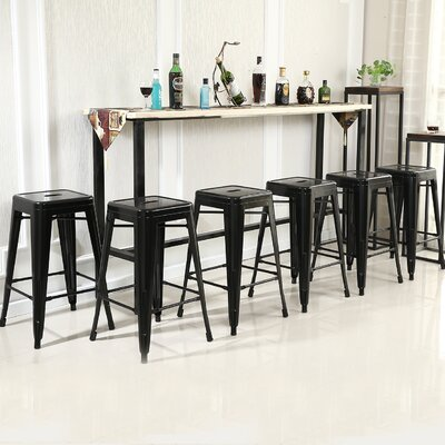 26'' Bar Stool Finish: Black