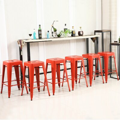 26 Bar Stool Finish: Red