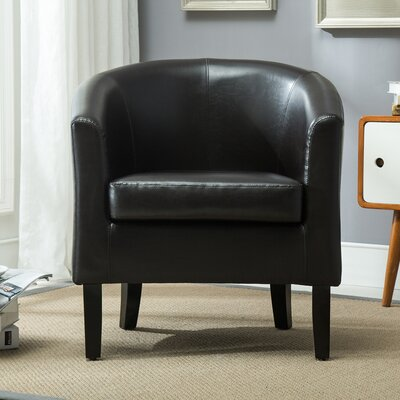 Barrel Chair Upholstery: Brown