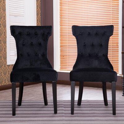 Premium Parson Chair Color: Black