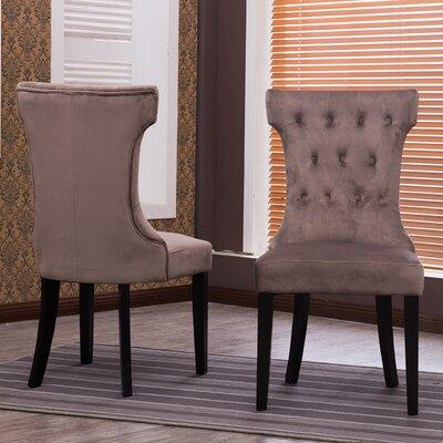 Premium Nailhead Parson Chair Color: Taupe