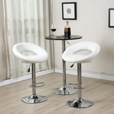32'' Swivel Bar Stool Upholstery: Cream White