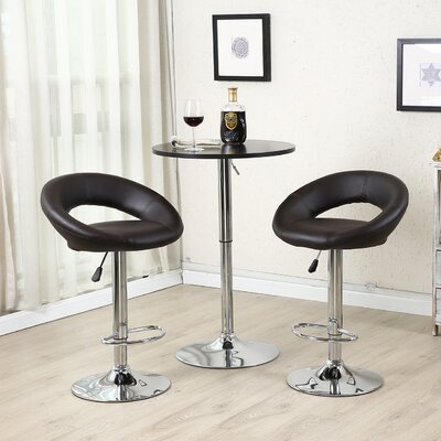 Wella 32 Swivel Bar Stool Upholstery: Dark Brown