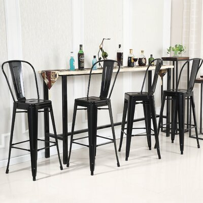 24 Bar Stool Color: Black