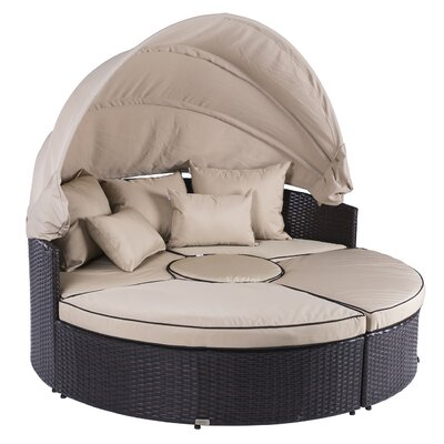 Belleze 5-piece Outdoor Daybed Set With Cushions