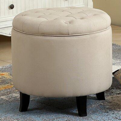 Storage Ottoman Upholstery: Beige