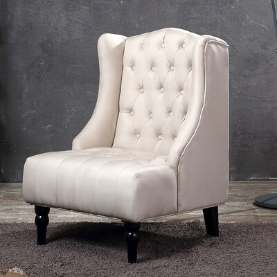 Wingback Chair Upholstery: Beige