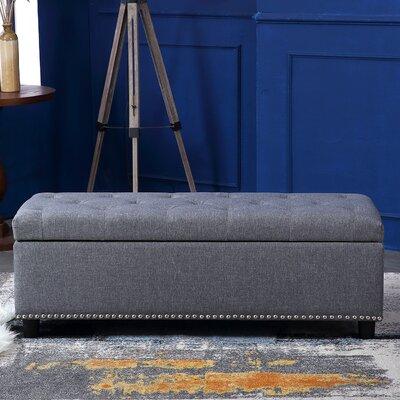 Arehart Ottoman Upholstery: Gray