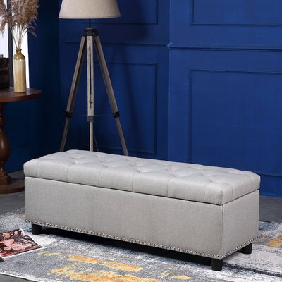 Arehart Storage Ottoman Upholstery: Natural