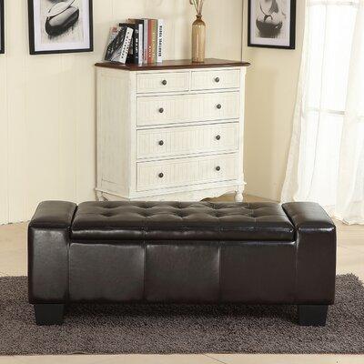 Jacksonburg Ottoman Upholstery: Black