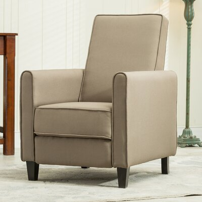 Prentice Modern Living Room Manual Recliner Upholstery: Taupe