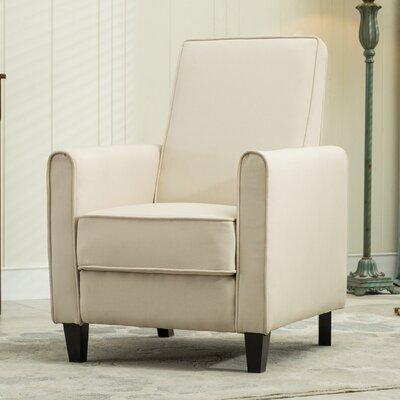 Prentice Modern Living Room Club Recliner Upholstery: Beige