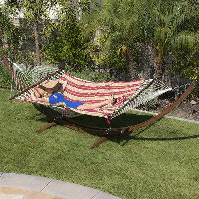 Willing Wooden Curved Arc Hammock with Stand