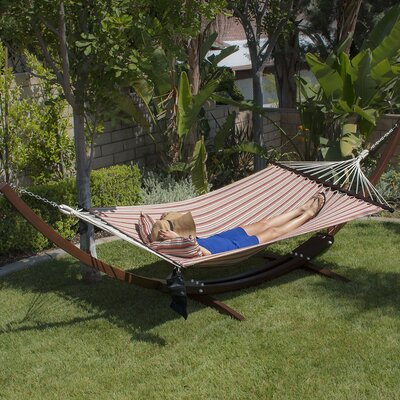 Willsboro Wooden Curved Arc Hammock with Stand