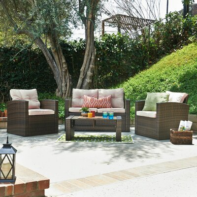 Kendal Belleze 4 Piece Deep Seating Group with Cushions