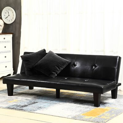 Convertible Sofa Upholstery : Black