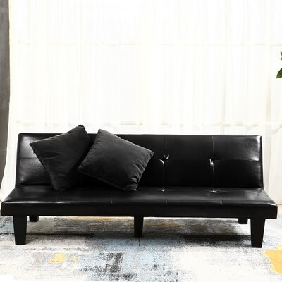 Convertible Sofa Upholstery : Black
