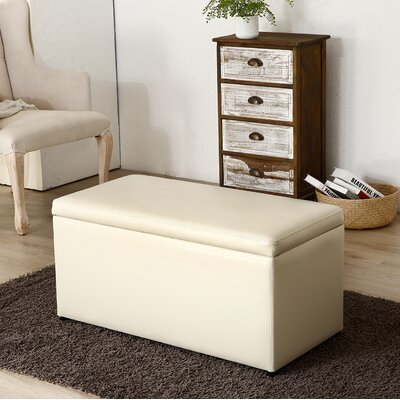 Attleborough 3 Piece Storage Ottoman Set Upholstery: Cream