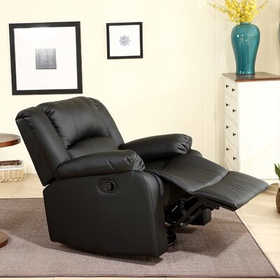 Dorene Manual Swivel Glider Recliner Upholstery : Black