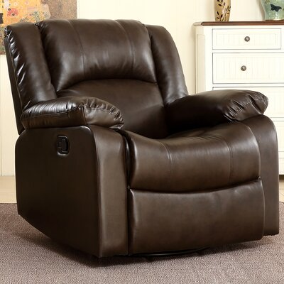 Dorene Swivel Recliner Upholstery : Brown