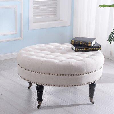 Tusten Cocktail Ottoman Upholstery: Beige