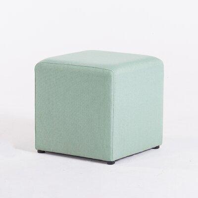 Ackermann Cube Footstool Ottoman Upholstery: Green