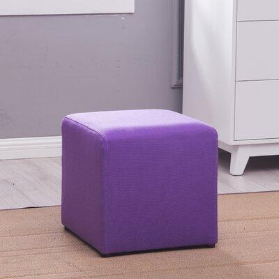 Ackermann Cube Footstool Ottoman Upholstery: Purple