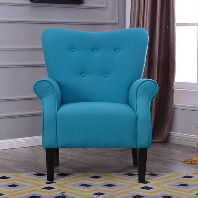 Naumann Leg Club Chair Upholstery: Mallard Teal
