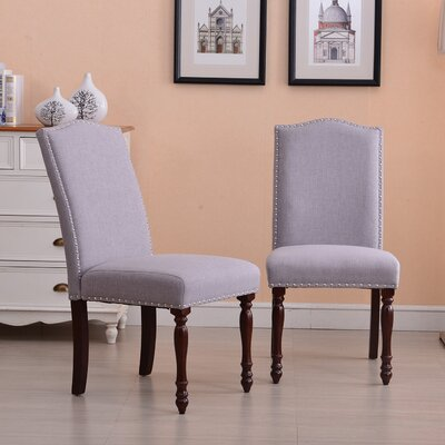 Rexroad Classic Parson Upholstered Dining Chair Upholstery Color: Gray
