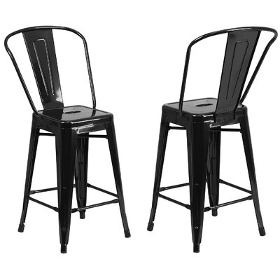 30 Bar Stools Color: Black