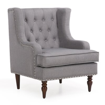 Dorchester Classic Button Tufted Traditional Armchair Upholstery: Gray