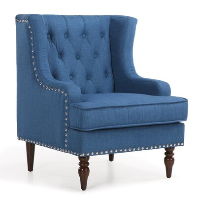 Dorchester Classic Button Tufted Traditional Armchair Upholstery: Royal Blue