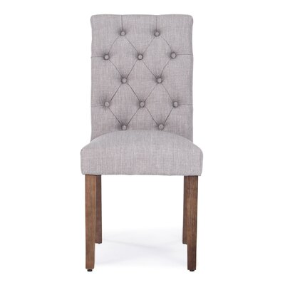 Odelina Button Tufted Upholstered Dining Chair Color: Gray