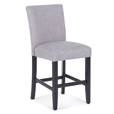 Balis Upholstered Dining Chair Upholstery Color: Gray