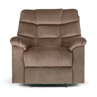Ducharme Contemporary Padded Manual Recliner Color: Brown